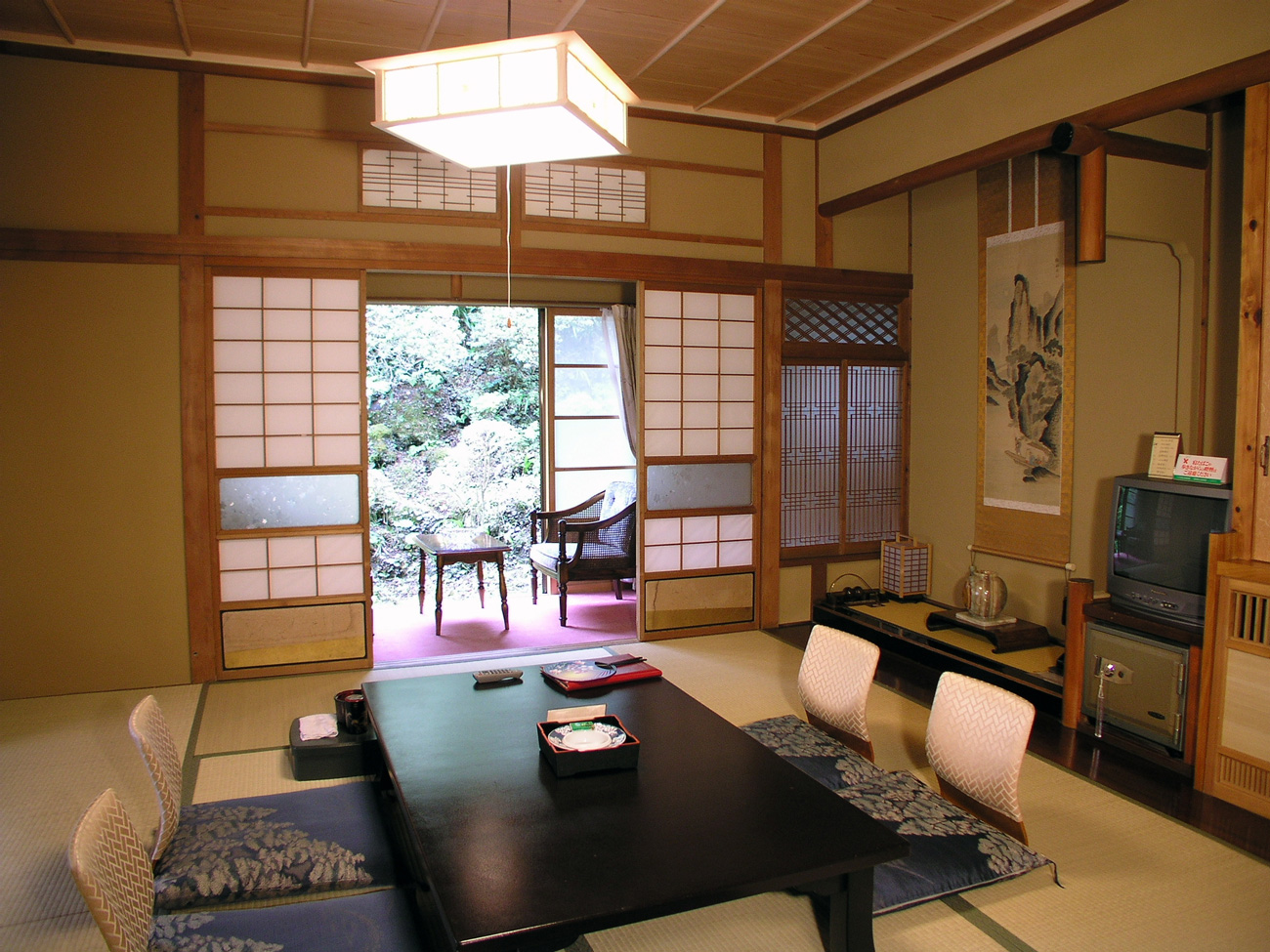 Japanese washitsu living room japan pinterest for Living room japanese